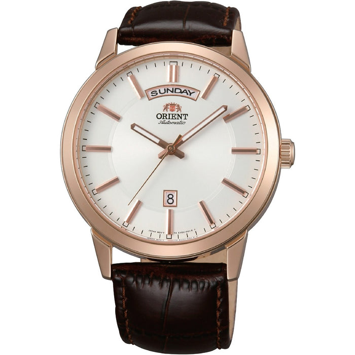 Orient Men's FEV0U002WH Contemporary Automatic Brown Leather Watch