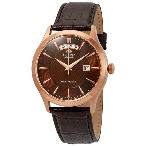 Orient Men's FEV0V002TH Classic Automatic Brown Leather Watch