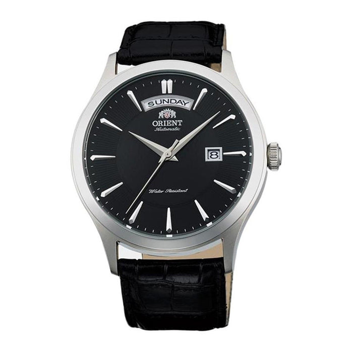 Orient Men's FEV0V003BH Union Automatic Black Leather Watch