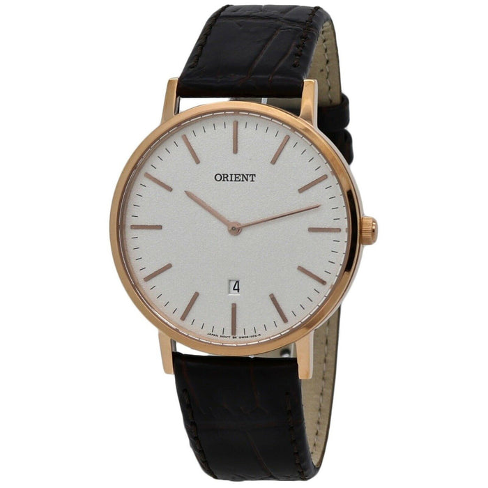 Orient Men's FGW05002W0 Classic Brown Leather Watch