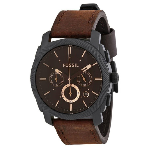 Fossil Men's FS4656 Machine Chronograph Brown Leather Watch