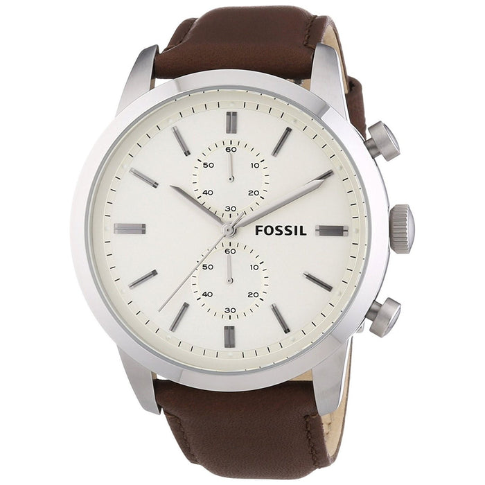 Fossil Men's FS4865 Townsman Chronograph Brown Leather Watch
