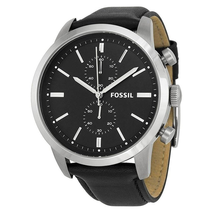 Fossil Men's FS4866 Townsman Chronograph Black Leather Watch
