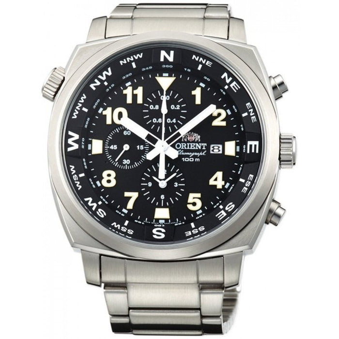 Orient Men's FTT17001B0 Pilot Chronograph Stainless Steel Watch