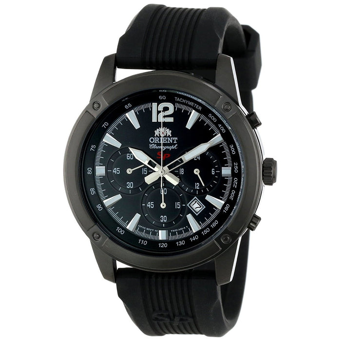 Orient Men's FTW01002B0 SP Chronograph Black Silicone Watch