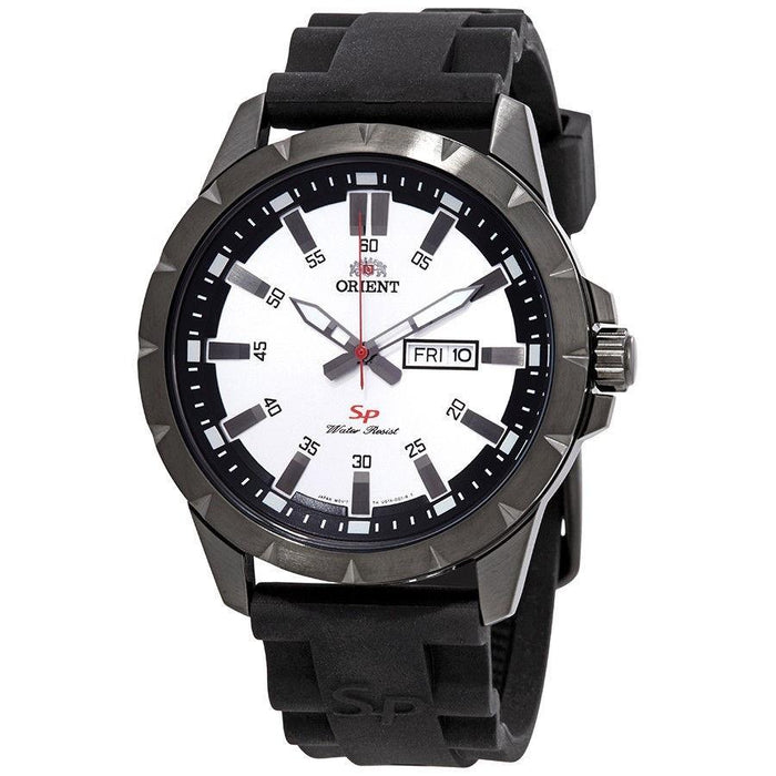 Orient Men's FUG1X006W9 SP Day Date Black Silicone Watch