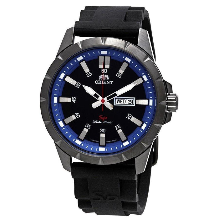 Orient Men's FUG1X008B9 SP Day Date Black Silicone Watch