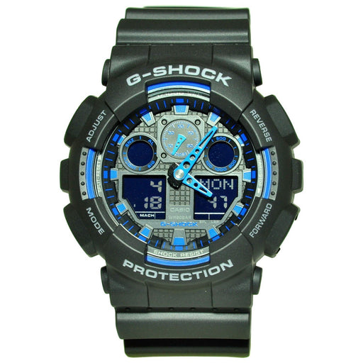 Casio Men's GA100-1A2 G-Shock Chronograph Black Resin Watch