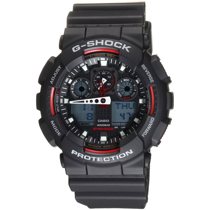 Casio Men's GA100-1A4 G-Shock Analog-Digital Black Resin Watch