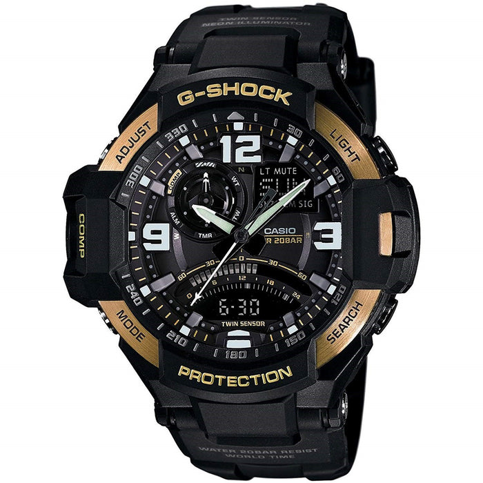 Casio Men's GA1000-9G G-Shock Gravitymaster Compass Analog-Digital Black Resin Watch