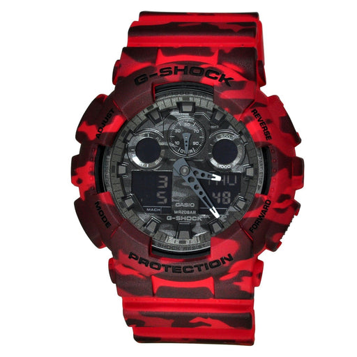 Casio Men's GA100CM-4A G-Shock Chronograph Red Resin Watch