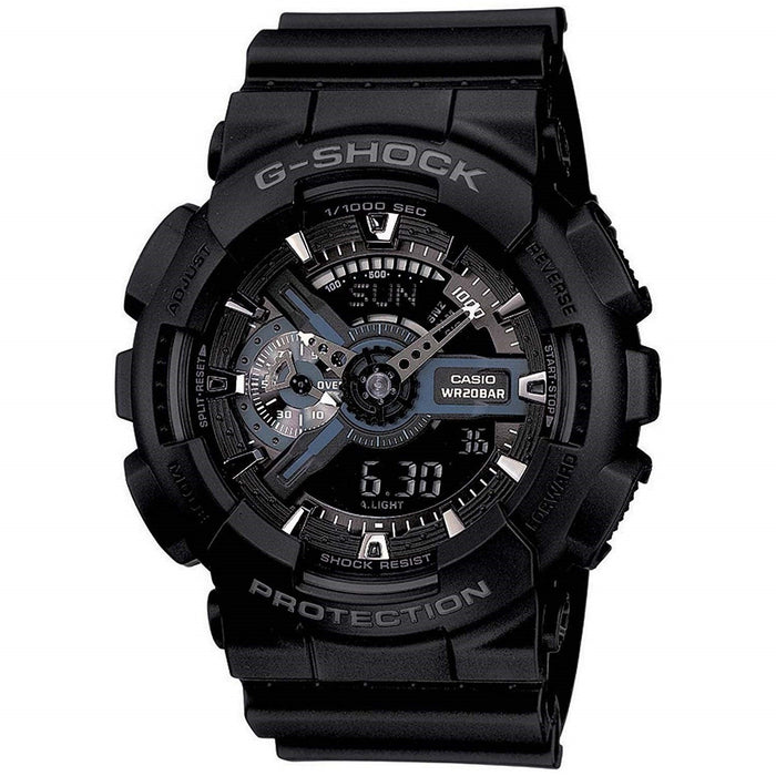 Casio Men's GA110-1B G-Shock Analog-Digital Black Resin Watch