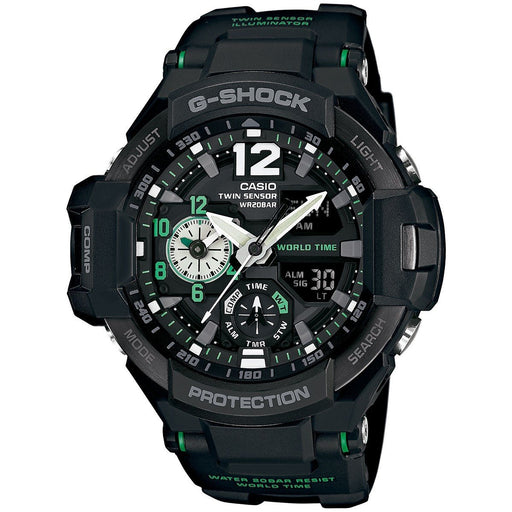Casio Men's GA1100-1A3 G-Shock Analog-Digital Black Resin Watch