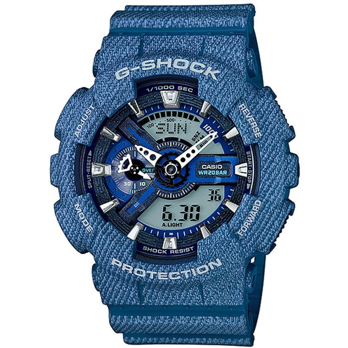 Casio Men's GA110DC-2A G-shock Blue Rubber Watch