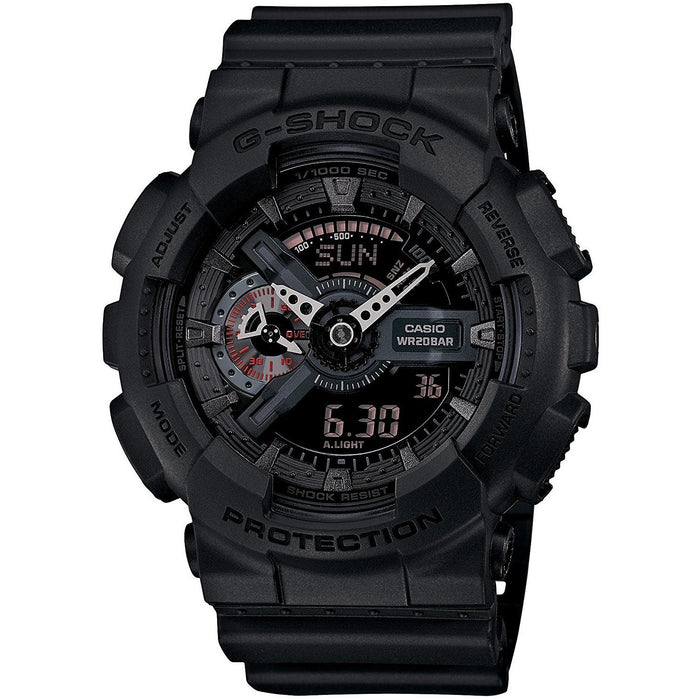 Casio Men's GA110MB-1A G-Shock Chronograph Analog-Digital Black Resin Watch
