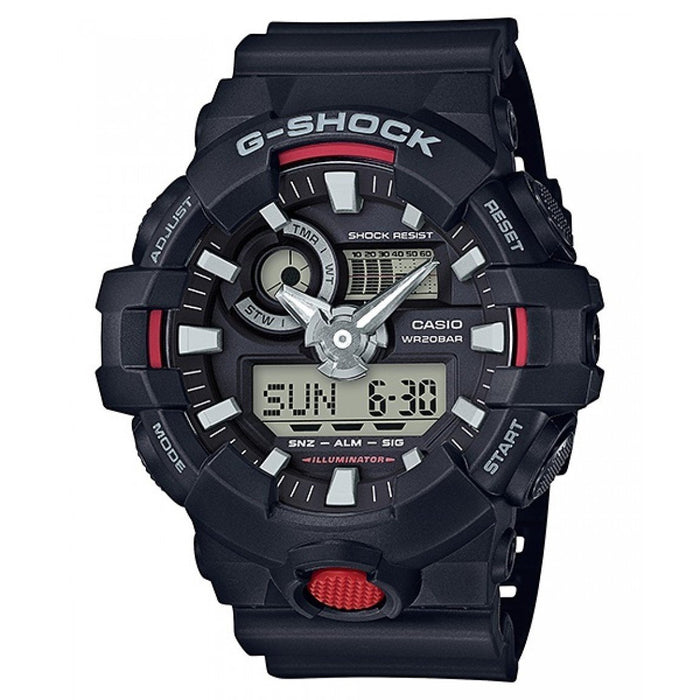 Casio Men's GA700-1A G-Shock Analog-Digital Black Resin Watch