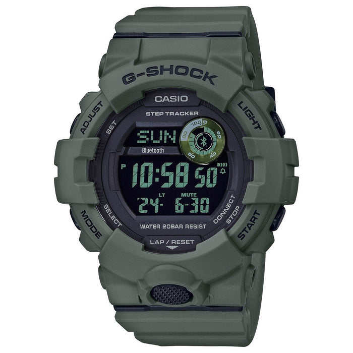 Casio Men's GBD800UC-3 G-Shock Green Resin Watch