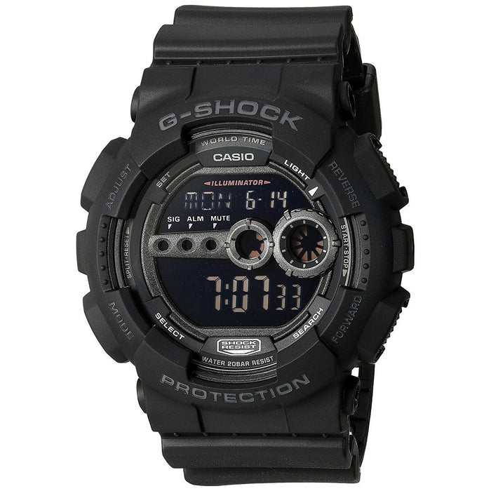 Casio Men's GD100-1B G-Shock Digital Black Resin Watch