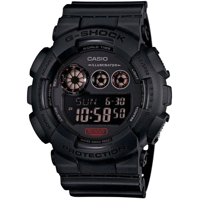 Casio Men's GD120MB-1 G-Shock Digital Black Resin Watch