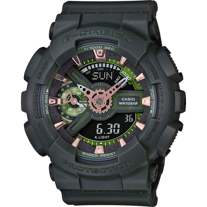 Casio Men's GMAS110CM-3A G-Shock Analog-Digital Black Resin Watch