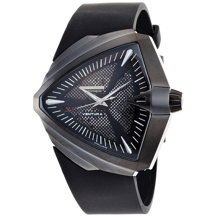 Hamilton Men's H24615331 Ventura XXL Elvis Anniversary Automatic Black Rubber Watch