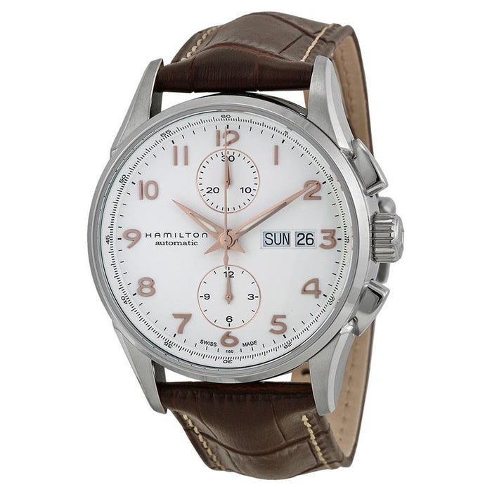 Hamilton Men's H32576515 Jazzmaster Maestro Chronograph Automatic Brown Leather Watch