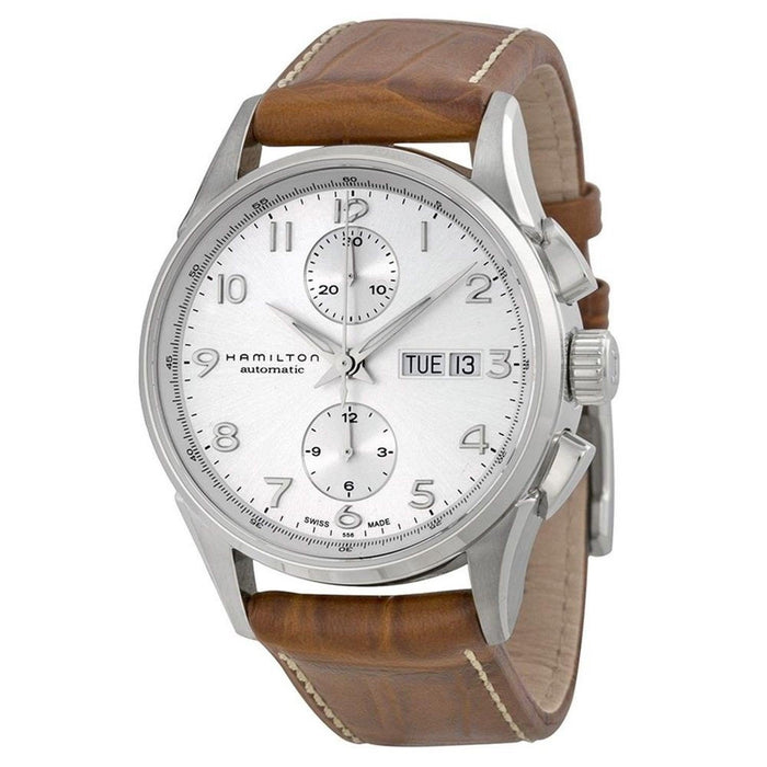 Hamilton Men's H32576555 Jazzmaster Maestro Chronograph Automatic Brown Leather Watch
