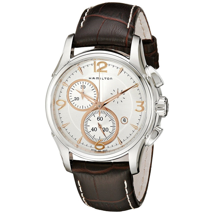 Hamilton Men's H32612555 Jazzmaster Chronograph Automatic Brown Leather Watch