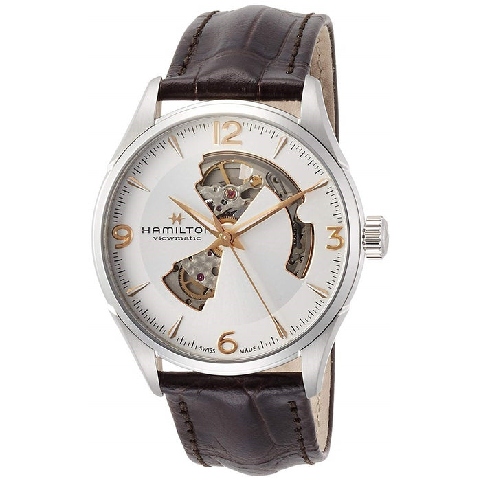 Hamilton Men's H32705551 Jazzmaster Automatic Brown Leather Watch