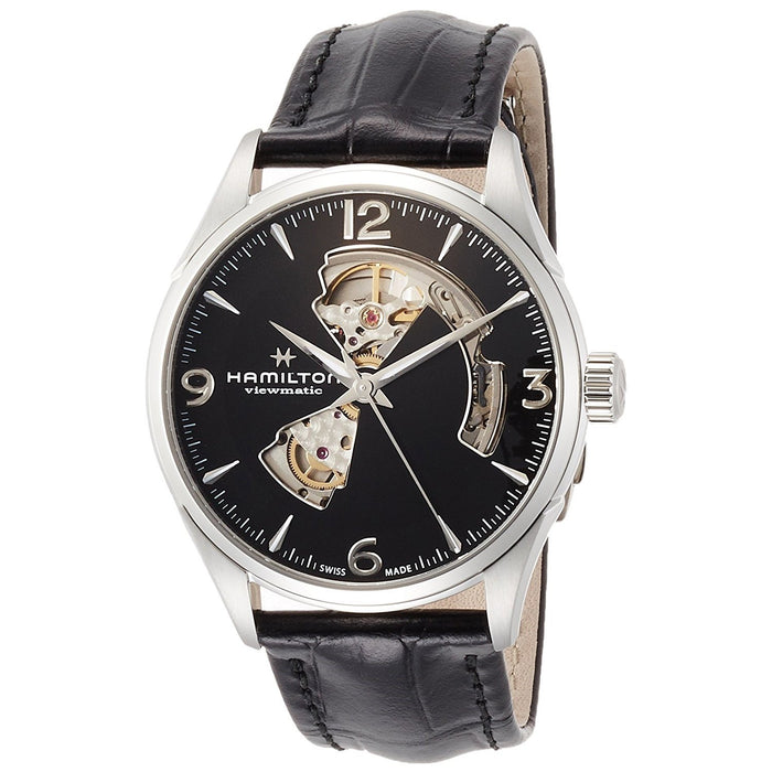Hamilton Men's H32705731 Jazzmaster Automatic Black Leather Watch