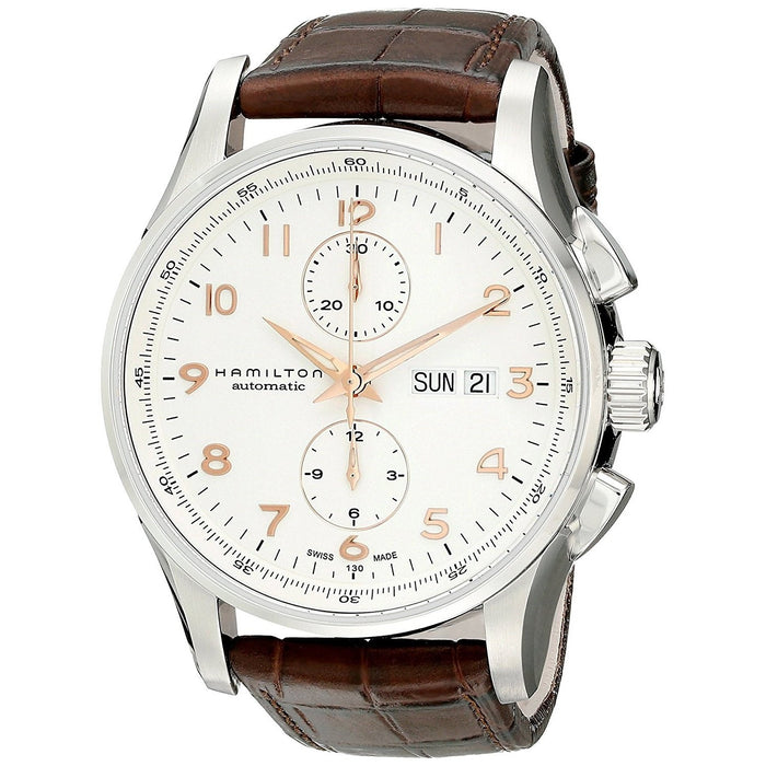 Hamilton Men's H32766513 Jazzmaster Maestro Chronograph Automatic Brown Leather Watch