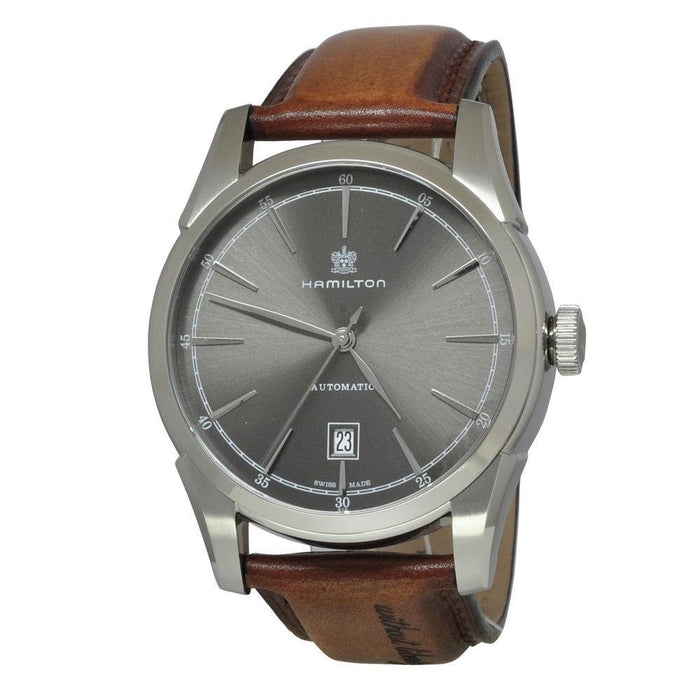 Hamilton Men's H42415591 Spirit of Liberty Automatic Brown Leather Watch