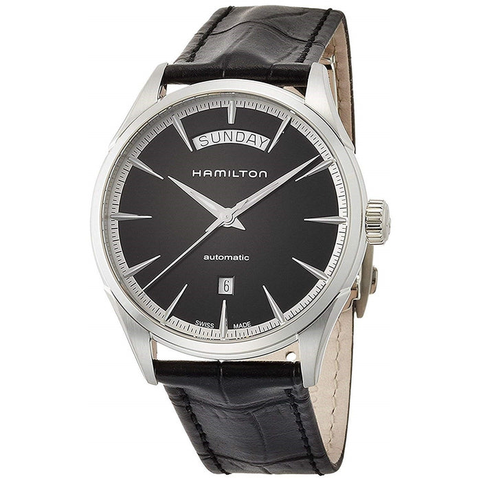 Hamilton Men's H42565731 Jazzmaster Automatic Black Leather Watch