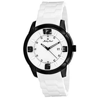 Mathey-Tissot Men's H511NBL Classic White Rubber Watch
