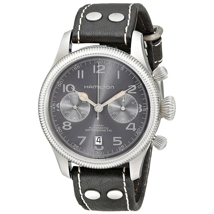 Hamilton Men's H60416583 Khaki Pioneer Chronograph Automatic Dark Brown Leather Watch