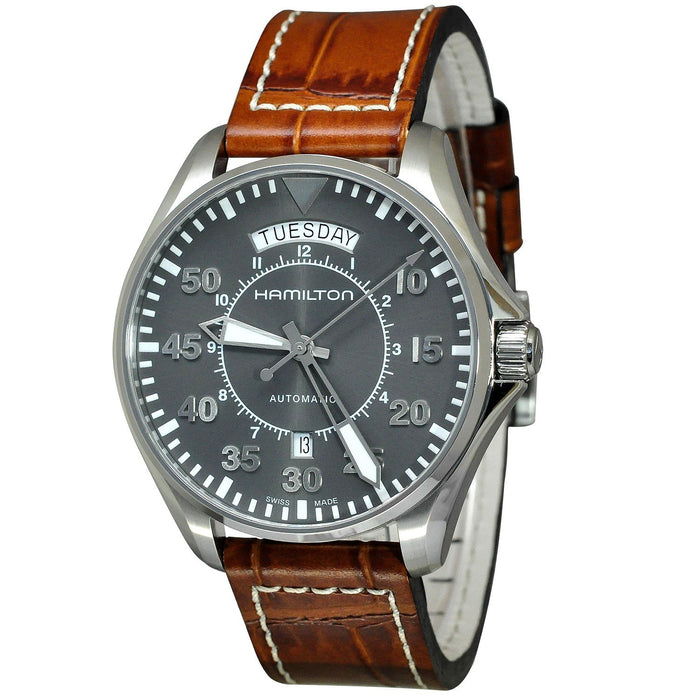 Hamilton Men's H64615585 Khaki Aviation Automatic Brown Leather Watch