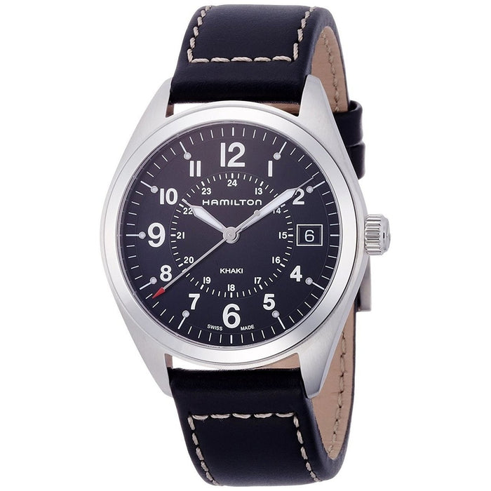 Hamilton Men's H68551733 Khaki Field Black Leather Watch