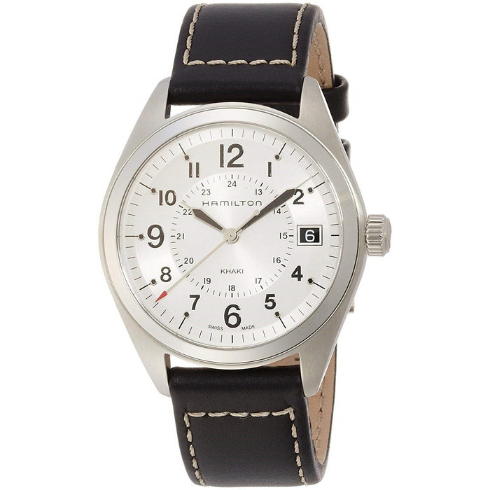 Hamilton Men's H68551753 Khaki Field Black Leather Watch