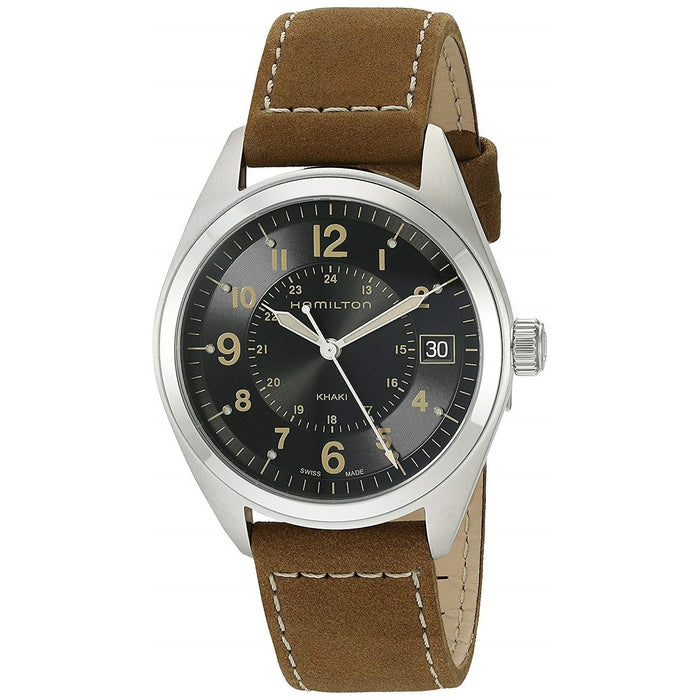 Hamilton Men's H68551833 Khaki Field Brown Leather Watch