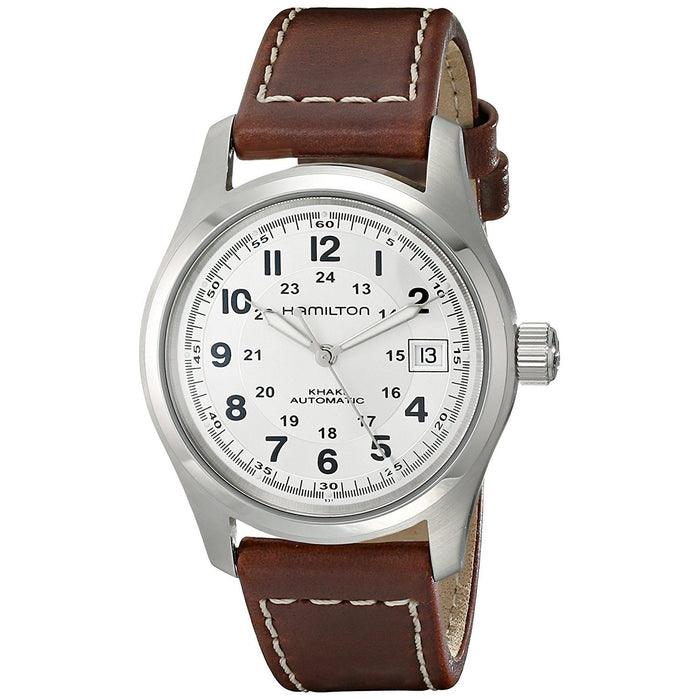 Hamilton Men's H70455553 Khaki Field Automatic Brown Leather Watch