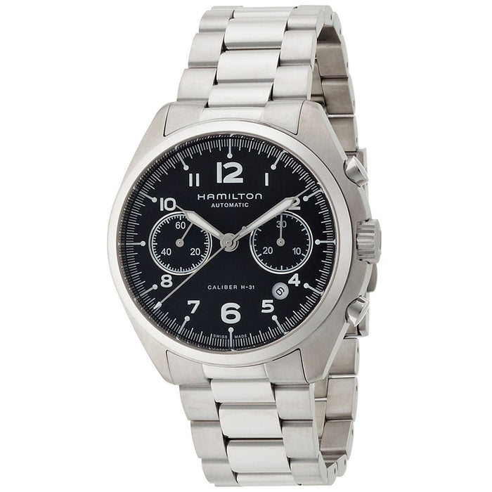 Hamilton Men's H76416135 Khaki Aviation Chronograph Automatic Stainless Steel Watch