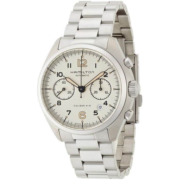 Hamilton Men's H76416155 Pilot Pioneer Chronograph Automatic Stainless Steel Watch