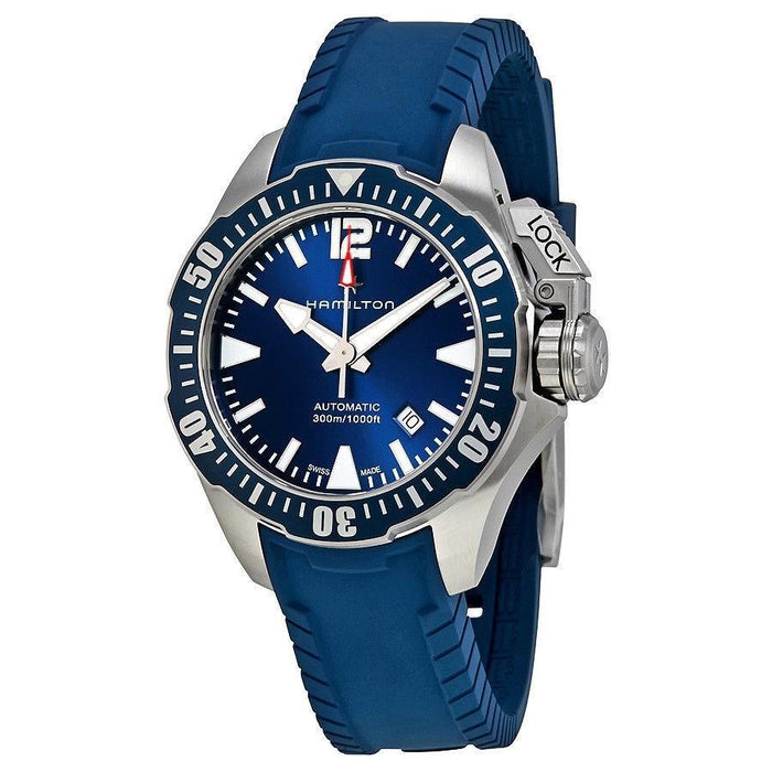 Hamilton Men's H77705345 Khaki Navy Automatic Blue Rubber Watch