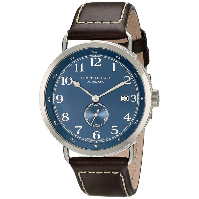 Hamilton Men's H78455543 Navy Pioneer Automatic Brown Leather Watch