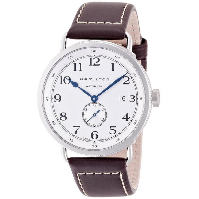 Hamilton Men's H78465553 Navy Pioneer Automatic Brown Leather Watch