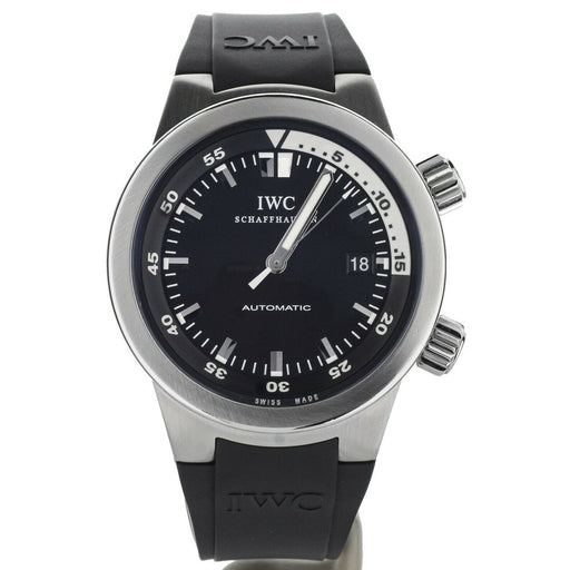 IWC Men's IW354807 Aquatimer Black Rubber Watch
