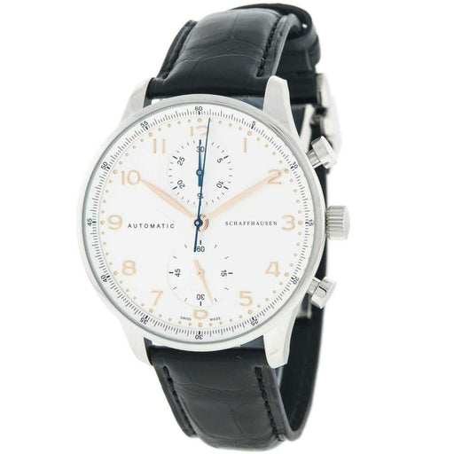 IWC Men's IW371445 Portuguese Chronograph Automatic Black Leather Watch