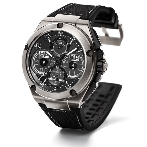 IWC Men's IW379201 Ingenieur Automatic Chronograph Black Leather Watch