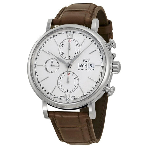 IWC Men's IW391007 Portofino Chronograph Automatic Brown Leather Watch