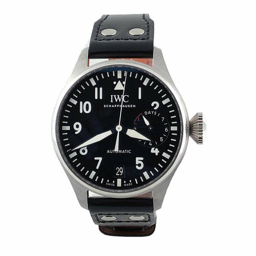 IWC Men's IW501001 Big Pilot Black Leather Watch